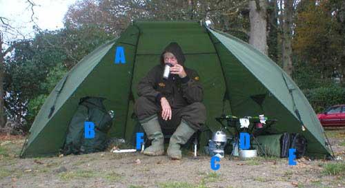 палатка для фидерной ловли